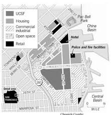 groundbreaking today for big chunk of mission bay pac bell