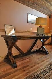 Keller Expandable Reception Desk Solid Oak Desk With Industrial X Style Legs Built By Hand Size