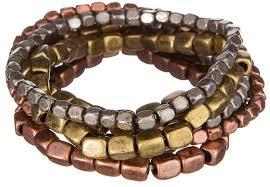 metal bead bracelet images Multi metal square bead bracelet set thebraceletshoppe jpeg