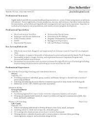 mental health counselor job description resume best ideas of cover