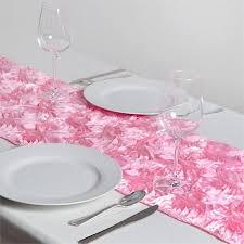 pink rosette table runner grandiose rosette satin table runner 14 x 108 pink efavormart