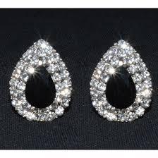 boucle d oreille mariage boucles d oreilles noires blancs bijoux fantaisie strass