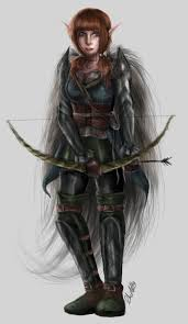 female elf archer character concept by charlightart on deviantart