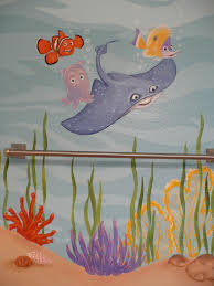 Bathroom Mural Ideas by Finding Nemo Theme Bathroom Artist Kyle King Kid U0027s Room