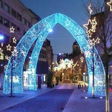 outdoor christmas decorations wholesale large outdoor christmas decorations blue led arch outdoor light