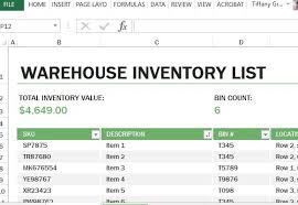 Excel Templates For Inventory Management Inventory Management