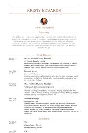 certified nursing assistant resume samples visualcv resume