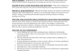 simple resume format sle documentation of inventory sales clerke sle legal file saindeorg inventory job description
