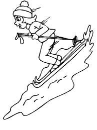 winter skiing coloring pages free winter coloring pages skiing