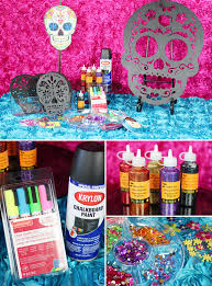 day of the dead decorations trend alert diy day of the dead sugar skull party decorations