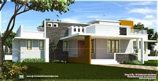 Contemporary House Plans Single Floor Contemporary House Design Kerala Home House Plans