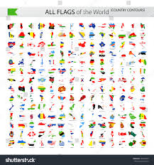 Country Flags Of The World All World Vector Contour Country Flags Stock Vector 563246023