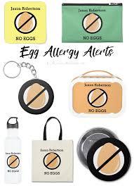 custom color personalized kids food allergy alerts u2013 lil allergy