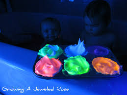 glowing homemade bath paint growing a jeweled rose