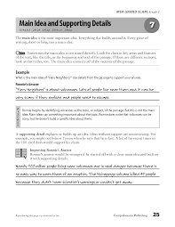 idea and supporting details worksheets 28 templates 6 free esl