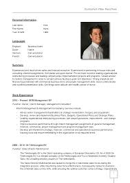 Professional Cv Template German Cv Template Doc Calendar Doc