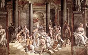 the baptism of constantine painted by raphael u0027s pupils 1520 u20131524