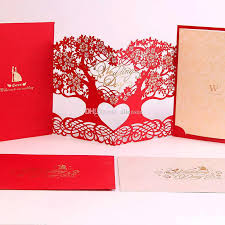 cheap wedding invitations packs engagement gold hollow tree wedding invitations party