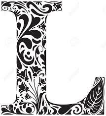 floral initial capital letter l royalty free cliparts vectors