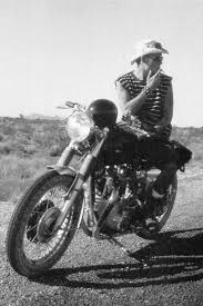 hunter s thompson on his bsa lightning motomania pinterest