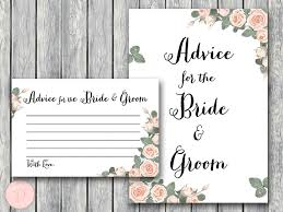 and groom advice cards pink floral bridal shower printable bows