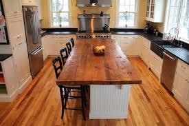 oak kitchen islands reclaimed wood kitchen island breathingdeeply