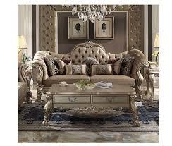 sofa dresden dresden bone velvet gold patina sofa with 7 pillows
