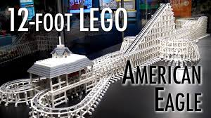 Six Flags Facts Huge Lego Six Flags American Eagle Roller Coaster Museum Of