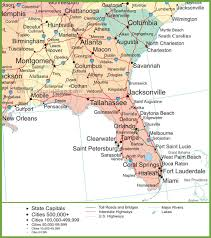 Map Venice Florida by Map Of Alabama Georgia And Florida