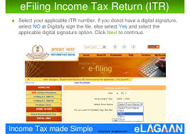 how to efile income tax returns in india