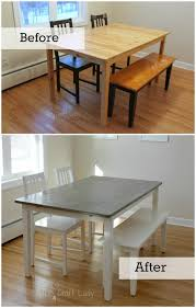 concrete wood table top diy concrete dining table top and dining set makeover the crazy