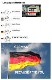 German Meme - german is a special language