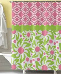 Pink Green Shower Curtain Wonderful Looking Pink And Green Shower Curtain Ideas Curtains Ideas