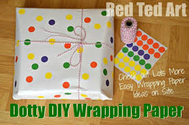 cheap wrapping paper diy wrapping paper dots with office stickers