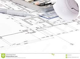 up house floor plan house floor plan blueprints and drawing tools closeup stock photo