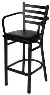 Ideas For Ladder Back Bar Stools Design The Most Ladder Back Metal Bar Stool With Arms With Regard To