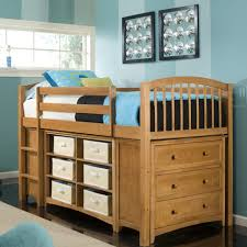 Bunk Bed With Dresser Bedroom Wood Mini Loft Bunk Bed With Storage Unit Dresser And