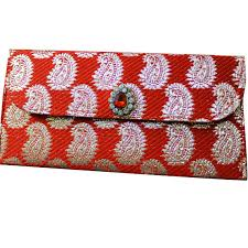decorative envelope brocade fabric hand money pouch indian crafted