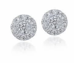 3 4ct pave halo blue amazon com diamond studs forever 14k white gold diamond halo