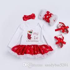 my christmas baby girl 2018 christmas baby clothes snowflake sleeve newborn romper