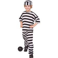 halloween costumes com coupon amazon com convict boy costume boys medium 8 10 toys u0026 games