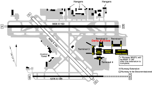 Map Of Miami International Airport by Terminal Map Fll Fort Lauderdale Airport