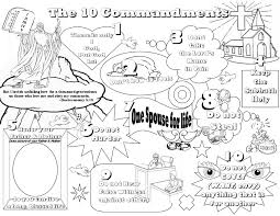 glamorous ten commandments coloring pages 10 color sheet cecilymae