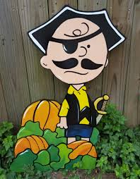 charlie brownbeard the pirate of the pumpkin patch wooden