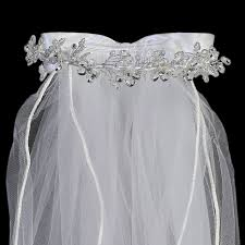 holy communion veils floral crown w pearls holy communion veil s