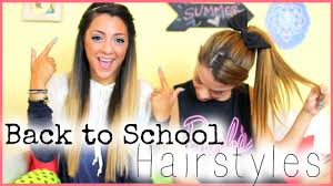 5 quick and easy back to hairstyles with nikiandgabibeauty