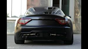 black maserati sports car anderson maserati granturismo s black edition