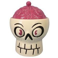 halloween ceramic skull u0026 brain candy bowl hyde and eek