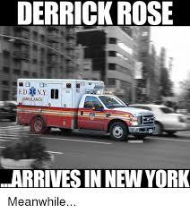 Derrick Rose Injury Meme - derrick rose 315 ambulance arrives in new york meanwhile derrick