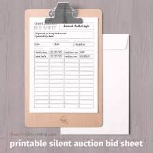 Bid Sheets For Silent Auction Template Black And White Printable Silent Auction Bid Sheet Free